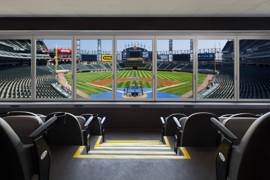 aa46da203 ... Chicago White Sox stadium are segmented units. It s a great example of  how an opening can be curved and still use a NanaWall system. The panels  slide ...